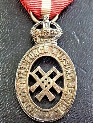 Post WW1 era British Army Territorial Force Nursing Service Cape Badge Medal
