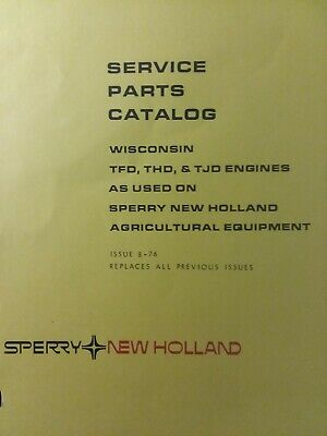 WISCONSIN 2 CYL Engine Motor THD TFD TJD Tractor New Holland Baler Parts  Manual
