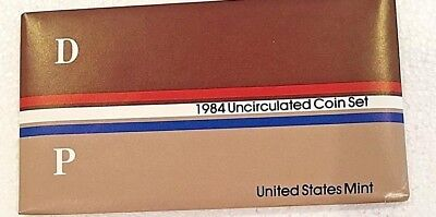 1984 - P & D United States Mint Uncirculated Coin Set w/ COA - 35 Years Old