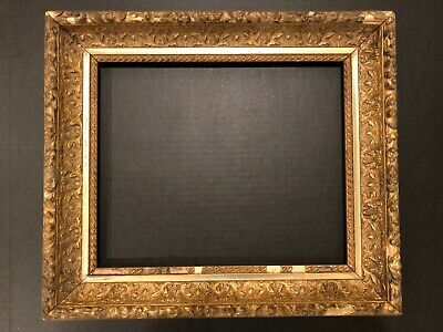 Early 20th Century Antique 13x10 Gold Gilt Gilded Small Picture Frame 19e