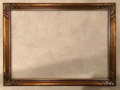 Antique Large Hand Carved Arts & Crafts Newcomb Macklin Style Picture Frame 19a