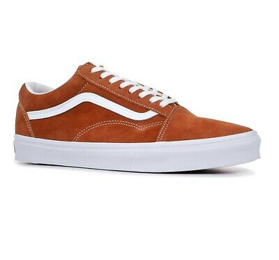 fb2034f17b Vans Old Skool (Pig Suede) Leather Brown Suede Womens Shoes Size 5.5