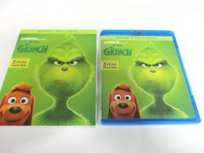 The Grinch (Blu-ray Disc, 2018) Single Disc + Cover Art Never Viewed NO CASE
