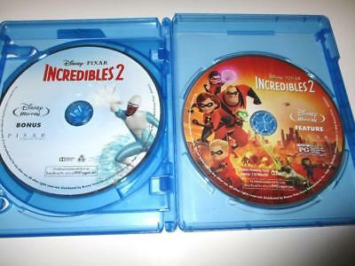 The Incredibles 2 (Blu-ray Disc, 2018) 2-Disc Set Never Viewed NO CASE