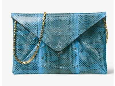 f6fba0d2630193 Michael kors COLLECTION Runway Snakeskin Clutch color Wave new with box