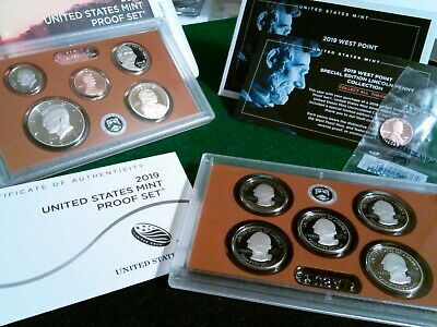 """2019 S  U.S. Mint Proof Set  + RARE West Point """"W"""" Proof Lincoln Cent/Penny"""