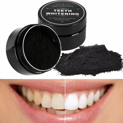 Natural Activated Charcoal Powder Teeth Whitening Cleaning Oral Health Care