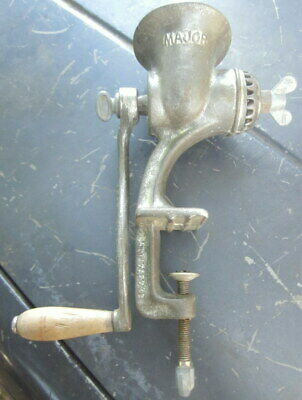 """collectors vintage POPE """"Major"""" table top , hand turned mincer - very good condi"""