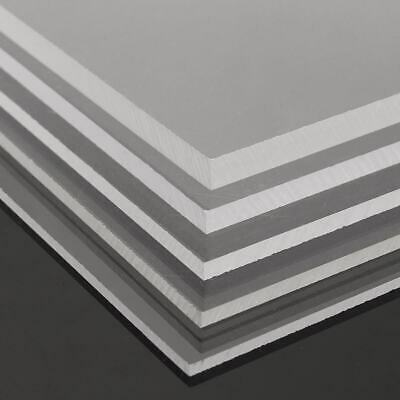 Multi Size 2/3/4/5/6/8/10mm Thick Clear Acrylic Sheet Plastic Panel Cut