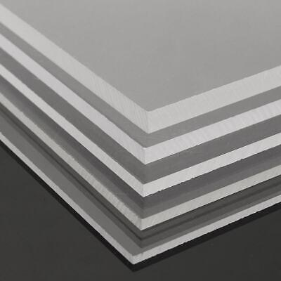 Multi Size Clear Acrylic Perspex Sheet Plastic Panel Cut 2/3/4/5/6/8/10mm Thick