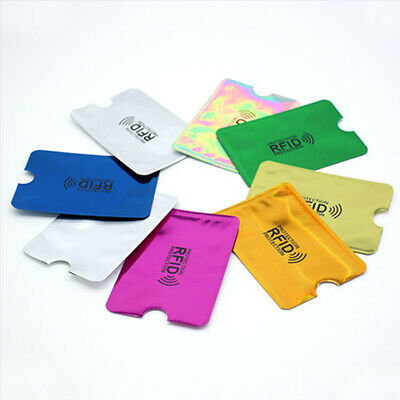 5Pc Anti RFID NFC Wallet Blocking Reader Bank Card Holder ID Case Protection Hot