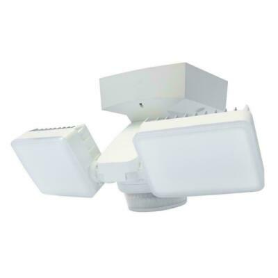 IQ America 240-Degree White Motion Activated Outdoor Integrated LED Twin Flood