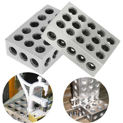 """Pair 1-2-3 Blocks 0.0001"""" Precision Matched Machinist 123 Milling Tool 23 Holes"""