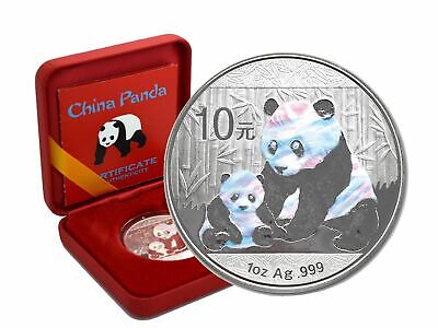 China 10 Yuan - Panda 2012 Holographics Edition - 1 Oz 999 Silber in Box