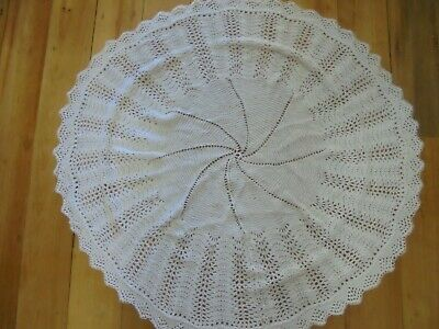 Hand knitted wool baby shawl - unused