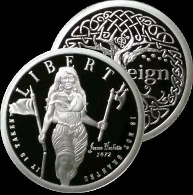 1 Oz .999 Silver Proof Round Coin Liberty Freedom Girl Jeanne Hatchet Sbss Rare