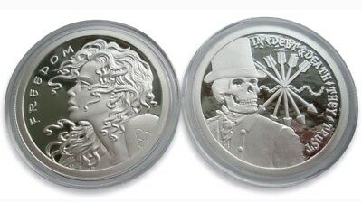 Original Sbss 1 Oz .999 Silver Proof Round Coin Freedom Girl Debt And Death Rare