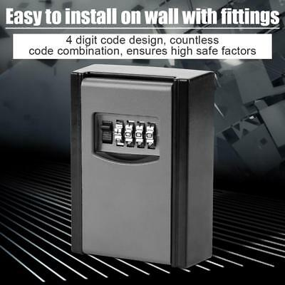 4 Digit Outdoor Wall Mounted Key Safe Box Code Secure Lock Storage High Quality