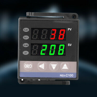 100-240V Digital PID Temperature Controller Thermostat REX-C100 Thermocouple zg