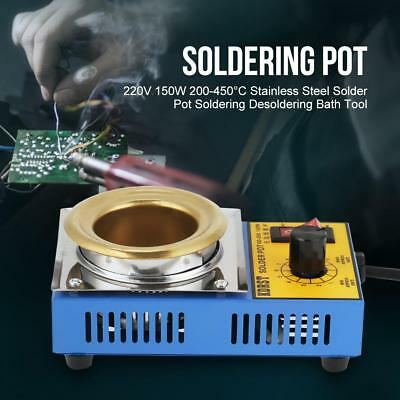 220V 150W High Power 200-450°C SS Solder Pot Soldering Desoldering Bath Tool