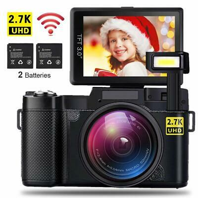 CD-R2 FHD 1080P 3.0in LCD 4X Zoom Digital Camera Camera WiFi Camcorder W/Battery
