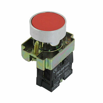 22mm NC N/C Red Sign Momentary Push Button Switch AC 600V 10A ZB2-BA42