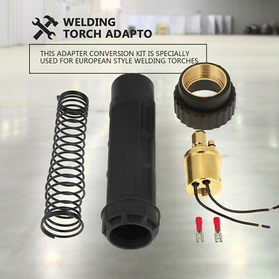 Euro Fitting Connector Brass CO2 Mig Welding Torch Adaptor Conversion Kit Set