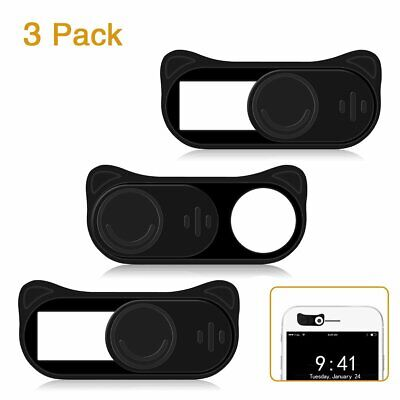 Webcam Cover Slide HITASION 3 Pack 0.027in Ultra Thin Cute Camera Cover Slide fo