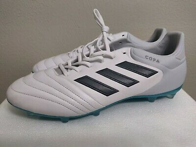 low priced 1f787 75abd [S77135] MENS ADIDAS Copa 17.2 FG Firm Ground Soccer Cleats White Grey Blue  10.5