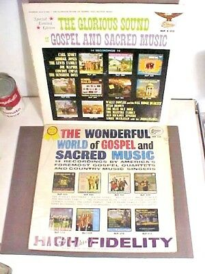 World of & Glorious Sound of  Gospel & Sacred Music  Starday LP SLP 255 &2-355
