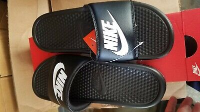 Nike Benassi JDI Men's Slide Black White 343880-090 SZ 9 10 13 14 Free Shipping