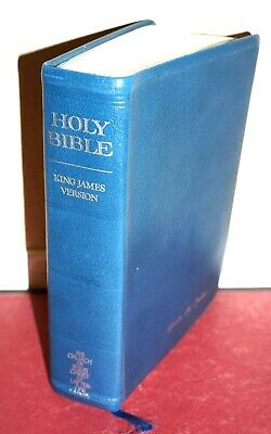 1998 LDS Holy Bible Blue Genuine Leather King James Version Mormon Indexed