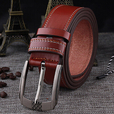 Men's  Leather Waistband Casual Luxury Belt Waist Strap Alloy Pin Buckle Belts