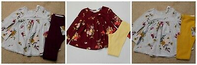 NWT Girls 2pc Old Navy Floral Swing Top & Leggings Choice of Colors sz 4t or 5t