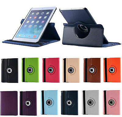 Smart Stand iPad Leather Case for iPad 2, 3 & 4 Shockproof cover 360° Rotation