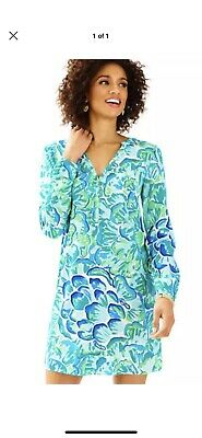 d090951eab929d NWT $188 LILLY Pulitzer Fleur Dress, Lazy River, Agate Green, Size ...