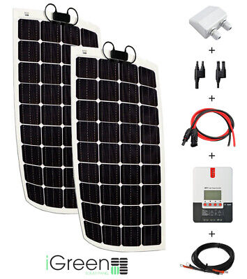 Kit panneau solaire 300W 12/24V camping-car complet flexible (300 watts)