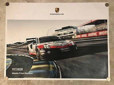 2015 Porsche 911 Coupe Showroom Advertising Sales Poster RARE! Awesome L@@K