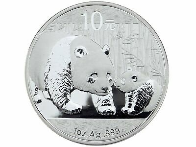 China 10 Yuan - Panda 2011 - 1 Oz 999 Silber