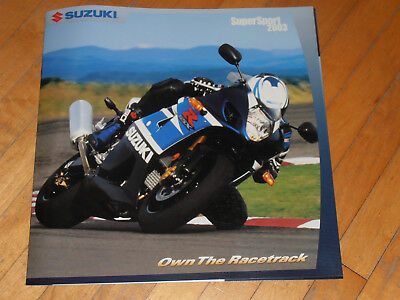 Suzuki Supersport 2003 GSXR 1000 750 600 Dealer Catalog