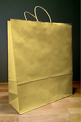 16x6x19 Kraft Brown Paper Gift Shopping Fashion Tote Bags with Rope Handles