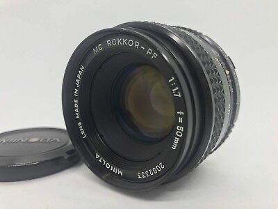 [Exc++++] Minolta MC ROKKOR PF 50mm f1.7 MF Lens for MD Mount from JAPAN #112
