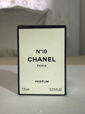 Rare Perfume N 19 Chanel Extrait Parfum Flacon Ancien Vintage Glass Frasco Scent
