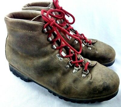 e5f933333c5 VINTAGE PIVETTA MEN'S Brown Leather Alpine Hiking Boots - $29.99 ...