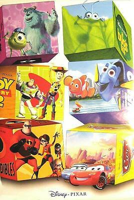 Walt Disney Pixar Poster Characters Nemo Toys Troy Cars