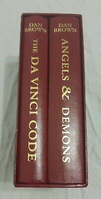 The Da Vinci Code / Angels and Demons slip case book collection Dan Brown Rare