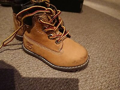 28e816cae2 Toddlers Timberland Boots Tan Brown Size UK 4.5 EU 25 Kids Childrens Zip Up