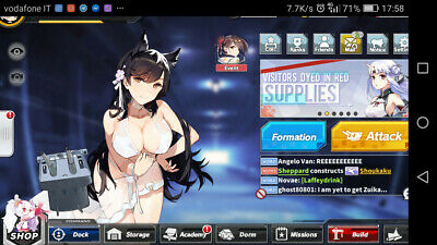 Azur Lane Account EU Avrora level 55 lots of SR!
