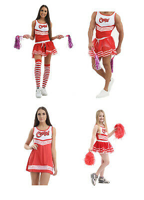Fancy Dress Hen Stag Cheers Cheerleader Set Vest Tutu Pride Festival Outfit Sock