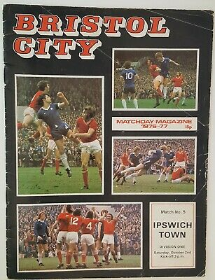 BRISTOL CITY V IPSWICH TOWN - DIVISION 1 - 2nd OCTOBER 1976